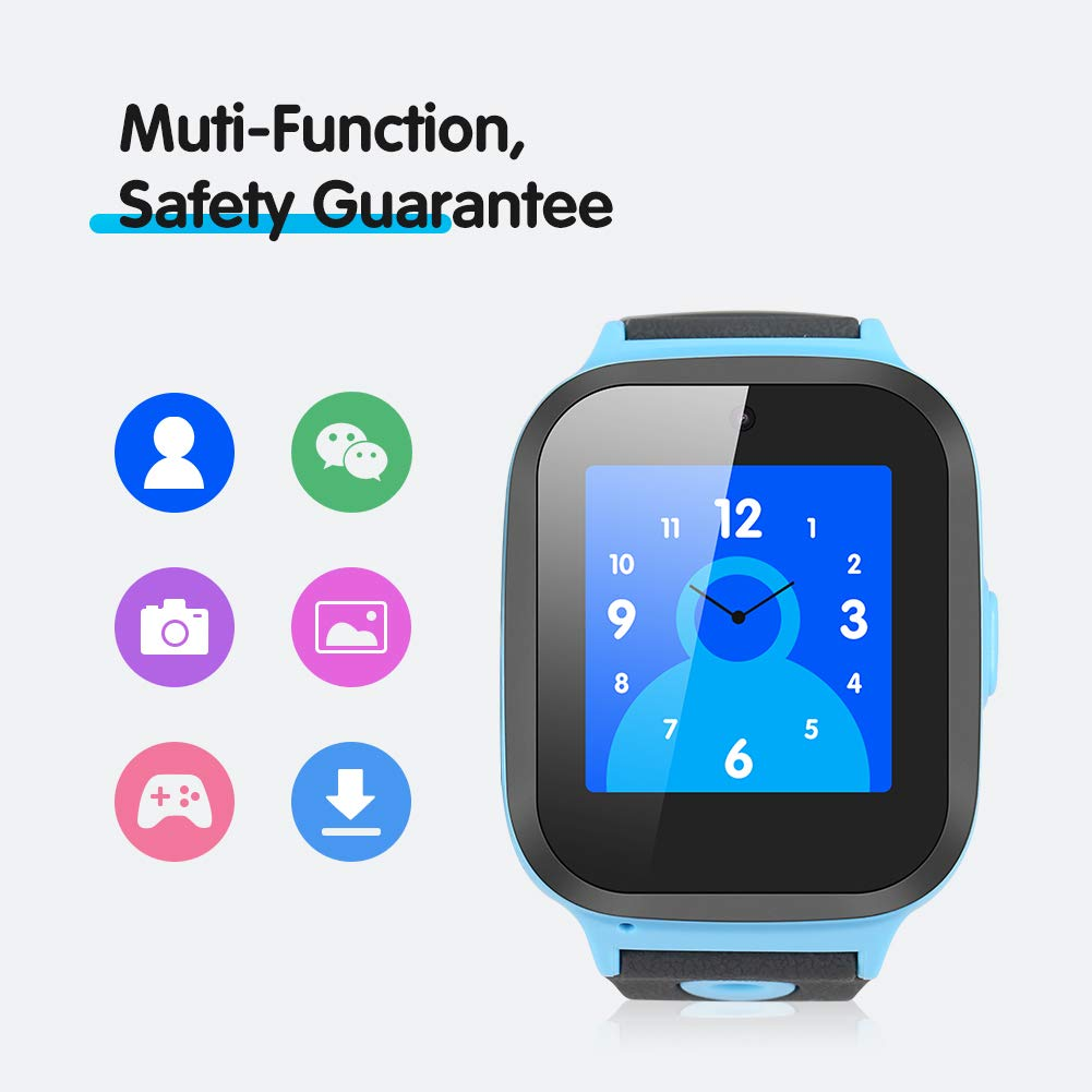 Enow Kids Smart Watch, IP67 Waterproof GPS/LBS Tracker Smartwatch with SOS Call Camera Flashlight Alarm Activity 1.44'' Touch Screen SIM Card Slot Electronic Toy for Android/iOS (Sim Card Included) by Enow (Image #7)