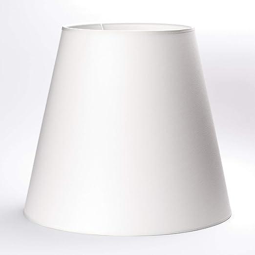Pantalla de lámpara de 45 cm con soporte superior de 12 mm pantalla de tela blanca: Amazon.es: Iluminación