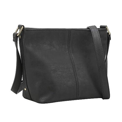 0164d6b515 Amazon.com: Women Crossbody Bag Vegan Leather Satchel Messenger Hobo Handbag  Shoulder Purse: Shoes