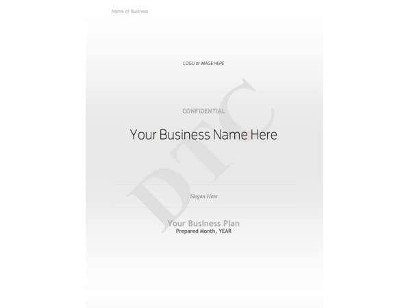AmazonCom Financial Business Plan Outline Template Ms Word