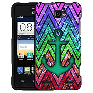 ZTE Zephyr Case, Snap On Cover by Trek Anchor on Rainbow Retro Chevrons Case