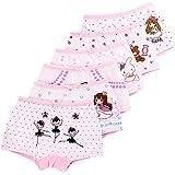 LeQeZe De 6 Bébé Fille Panty Culotte Filles Shorty Enfants Coton Boxer Slip Pantalon sous-Vêtement 2-11 Ans