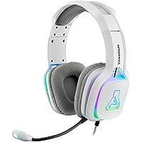 THE G-LAB Korp VANADIUM PS4 gamingheadset - Stereo Audio Gaming Headset, ultralätt, högbas - Mikrofon 3.5mm Jack for PC…