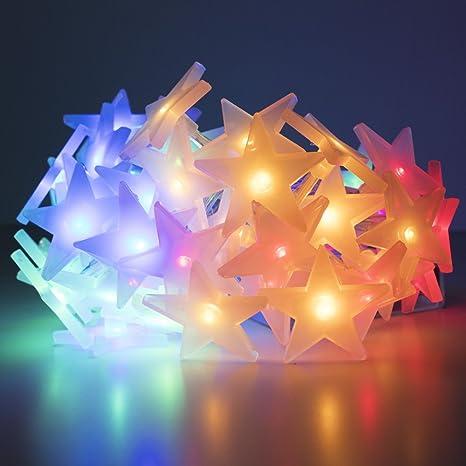 Amazon.com: LuxLumi Starry Spectrum Glossy String Lights 50 ...
