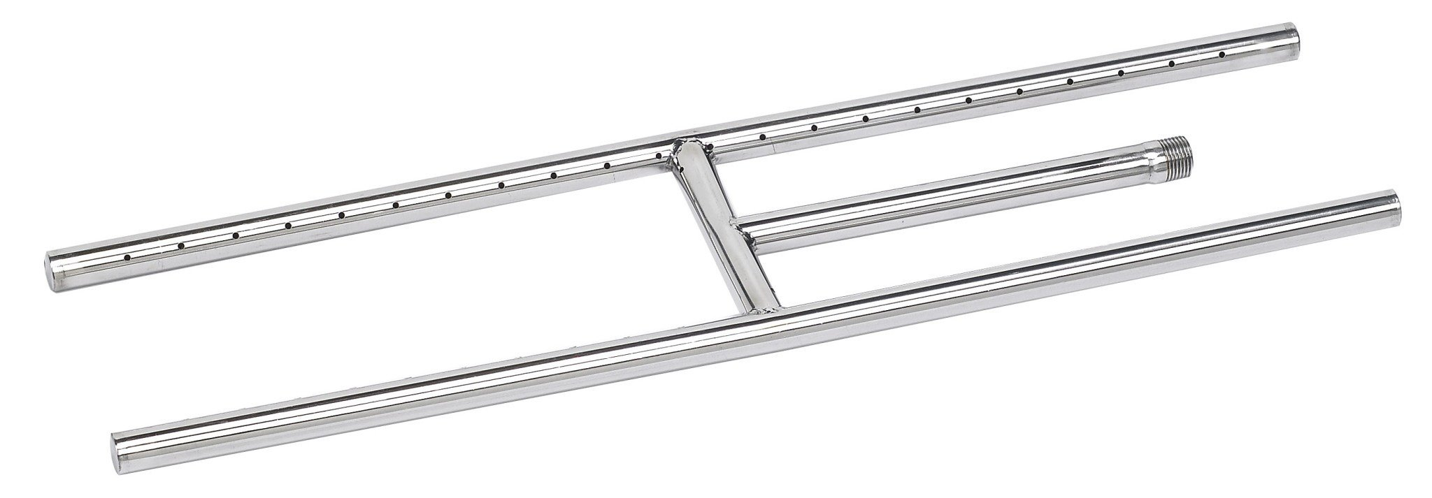American Fire Glass SS-H-24 Stainless Steel H-Style Burner - Natural Gas, 24'' x 6'' (Renewed)