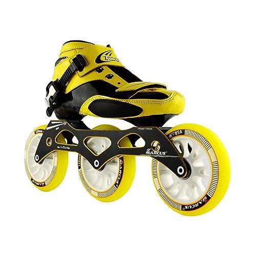 ailj Zapatillas De Patinaje De Velocidad 90MM-110MM Patines En Línea Ajustables, Zapatos De Patinaje Rectas (2 Colores): Amazon.es: Zapatos y complementos