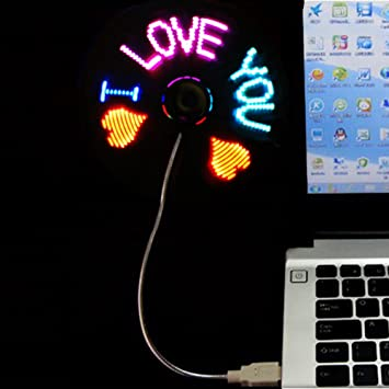 LED programable ventilador] LED programable mensaje ventilador w ...