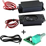 Degraw DIY Speaker Kit - PAM8403 5V Amplifier + 2Pcs 4 ohm, 3 watt Speakers - Mini Class D Digital Audio Amplifier amp…