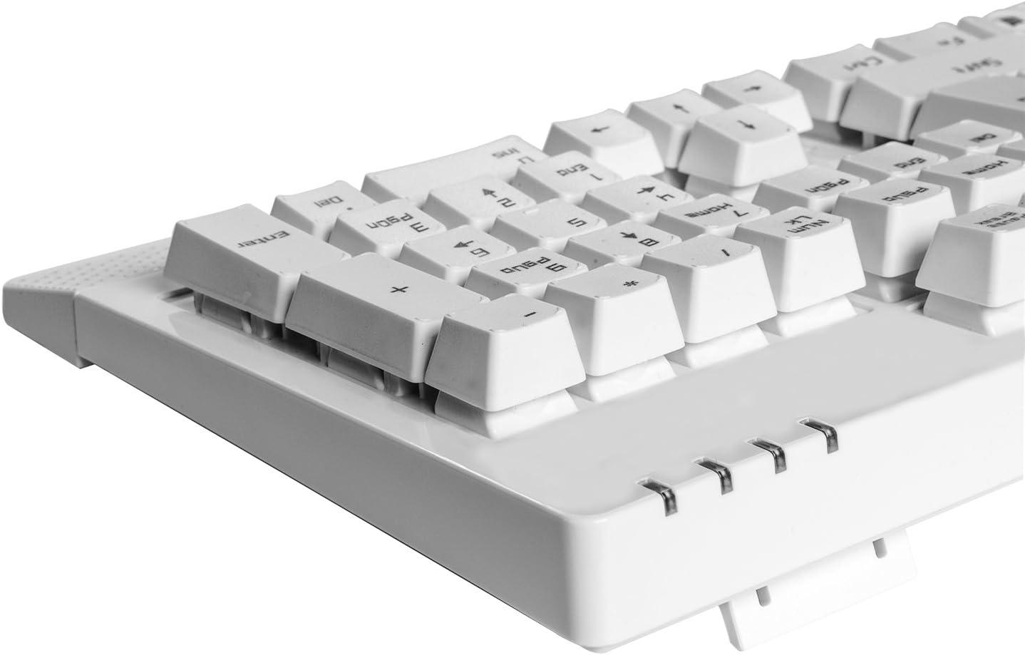 Aula - Teclado mecánico para juegos, 104 teclas, Blue Switch, USB, resistente al agua