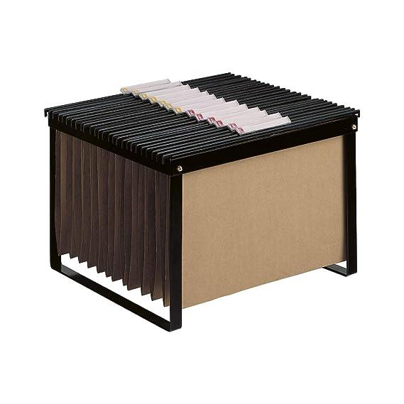 Q-Connect Carrito Para Carpetas Colgantes Negro Con Ruedas Y bandeja Inferior Extraible Para Carpetas Tamaño Folio: Amazon.es: Oficina y papelería