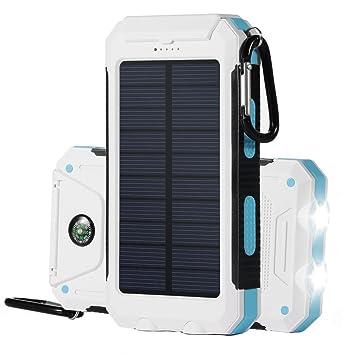 TKSTAR Cargador Solar Móvil 10000mAh,Levin Batería Externa ...