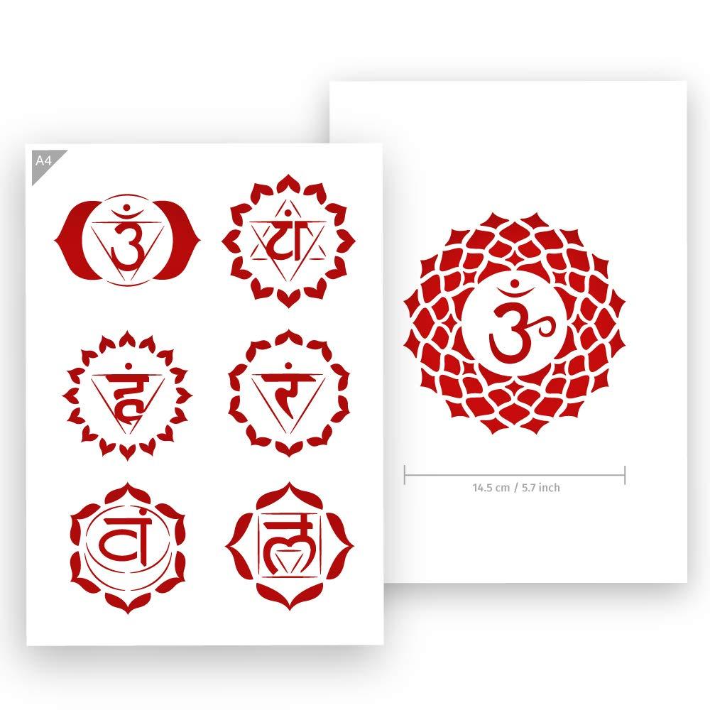 Amazon.com: QBIX Chakra Stencil - All Chakras Stencil - Yoga ...