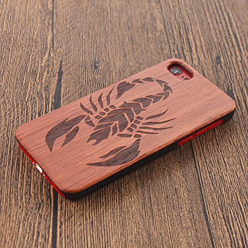 Funda Madera para iPhone 6s, Vandot Natural Ultra Slim Talla Madera Bambú Cubierta Trasera Duro con Hybrid PC Shell Cubrir Protectora Absorción Impactos Anti-Arañazos para iPhone 6/6s 4.7 Pulgadas, Pa Mu+PC 17