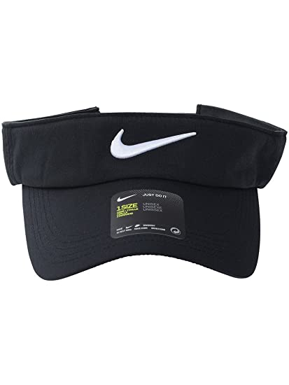 Amazon.com  NIKE Core Golf Visor (Black)  Clothing 84e0d36cdd0