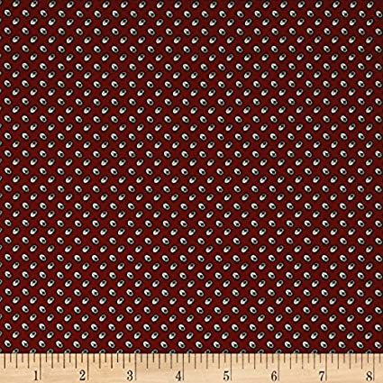 Timeworn Toolbox Wallpaper Paint Roller Red Fabric By The Yard