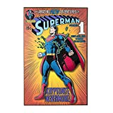 3d wall art marvel - Silver Buffalo SP1371 DC Comics Superman Breaking Chains 3-D Wood Wall Art, 13 x 19 inches