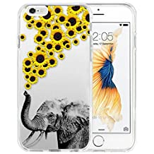 iPhone 6s Plus Case iPhone 6 Plus Case TPU Non-Slip High Definition Printing Personalized Elephants and chrysanthemums