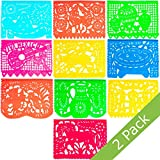 Large Plastic Papel Picado Banner - 15 Feet Long - Two Designs to choose from (2 Pack, Mexico Querido)