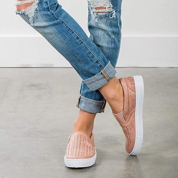 Covermason Zapatos Zapatos de tacón plano, casuales ahuecados desde la plataforma de los pies: Amazon.es: Ropa y accesorios
