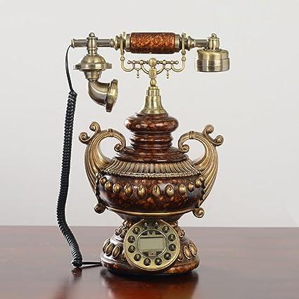 Hyun veces Europea retro teléfono moda Tocadiscos Antiguo teléfono ...