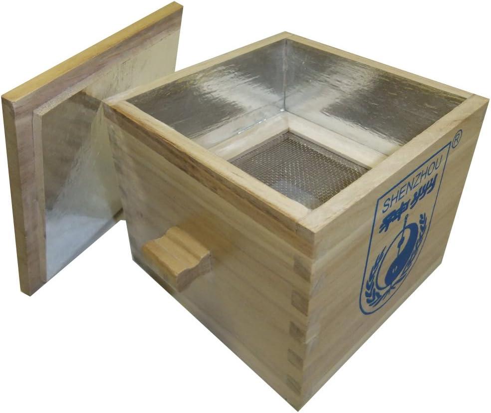 Moxa - Caja de madera con colador y tapa: Amazon.es: Salud y cuidado personal
