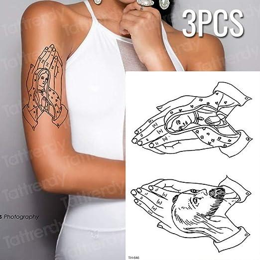 Handaxian 3pcs Tigre Pantera Negra Tatuaje boceto Tatuaje diseño ...