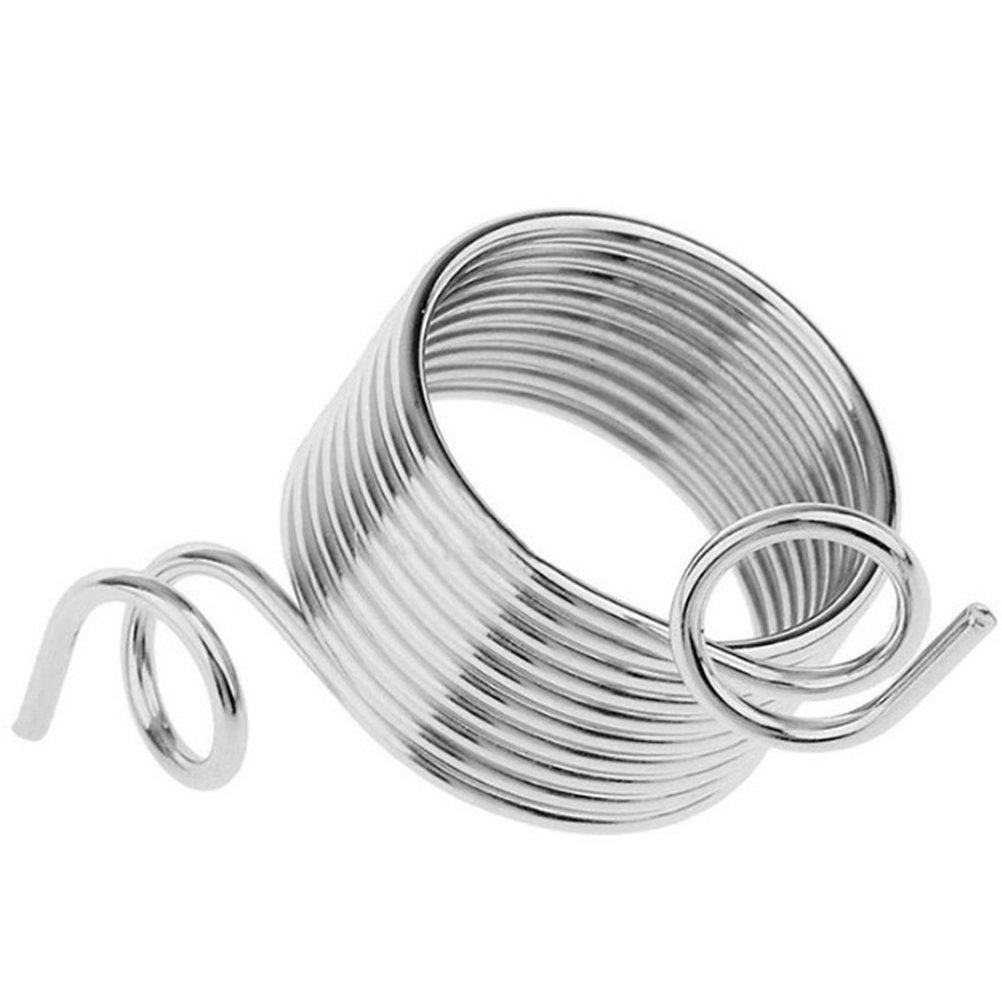 grande Artibetter 2 piezas de acero inoxidable gu/ía de hilo de metal tejer dedal gu/ía dedo titular lana herramientas de tejer