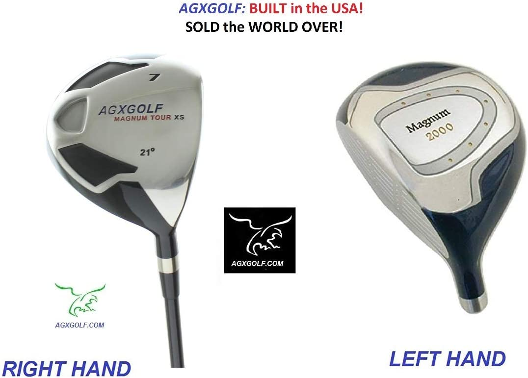 AGXGOLF Men s Magnum 7 Utility Fairway Wood wGraphite Shaft Choose Length Flex Free Head Cover Made in USA