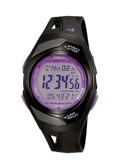 Casio Phys - Reloj digital de mujer de cuarzo con correa de resina negra (luz, alarma, cronómetro) - sumergible a 50 metros: Amazon.es: Relojes