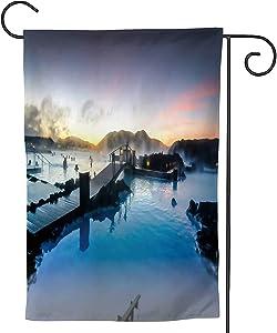 C COABALLA The Blue Lagoon,Outside Decoration Seasonal Home Decor FlagIceland Iceland 28''x40''