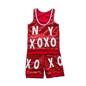 204e5df88 Voleseni™ Girls Boys Children Modern Jazz Hip-Hop Dancewear Kids Dance  Sequins Costumes (
