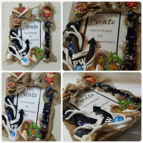 Amazon Pirate Picture Frame Personalized Room Decor Handmade