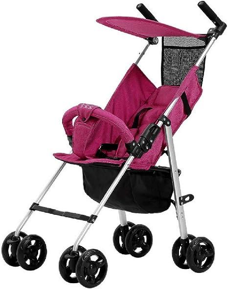 Opinión sobre WWKDM Cochecito de bebé Cochecito de bebé Ligero Plegable de Aluminio Cochecito de bebé, Gris