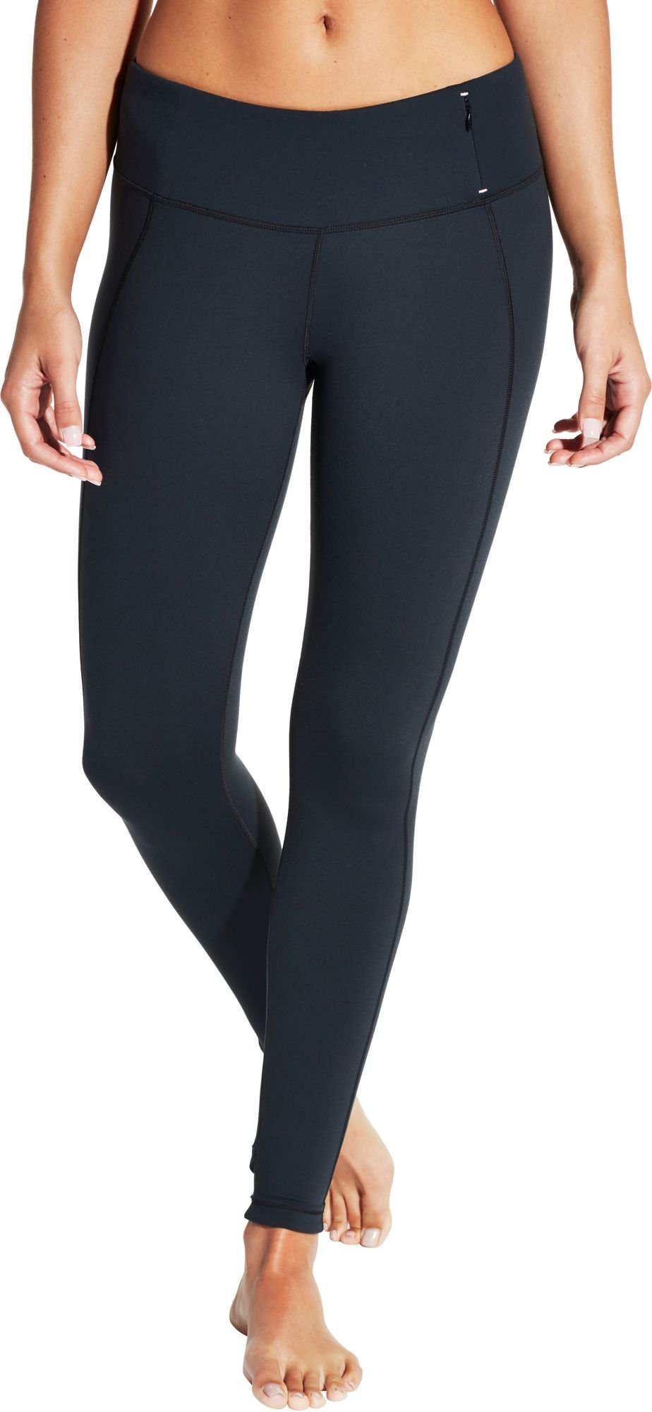 CALIA by Carrie Underwood Women's Essential Crossover Leggings, (Caviar, Long–XS)