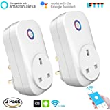 WiFi Smart Plug 2 Pack Works with Alexa, Cotify Wireless Socket Outlets with Energy Monitoring/Timer, No Hub Required, App Controlled from Anywhere at Anytime, for Android iOS Google Home