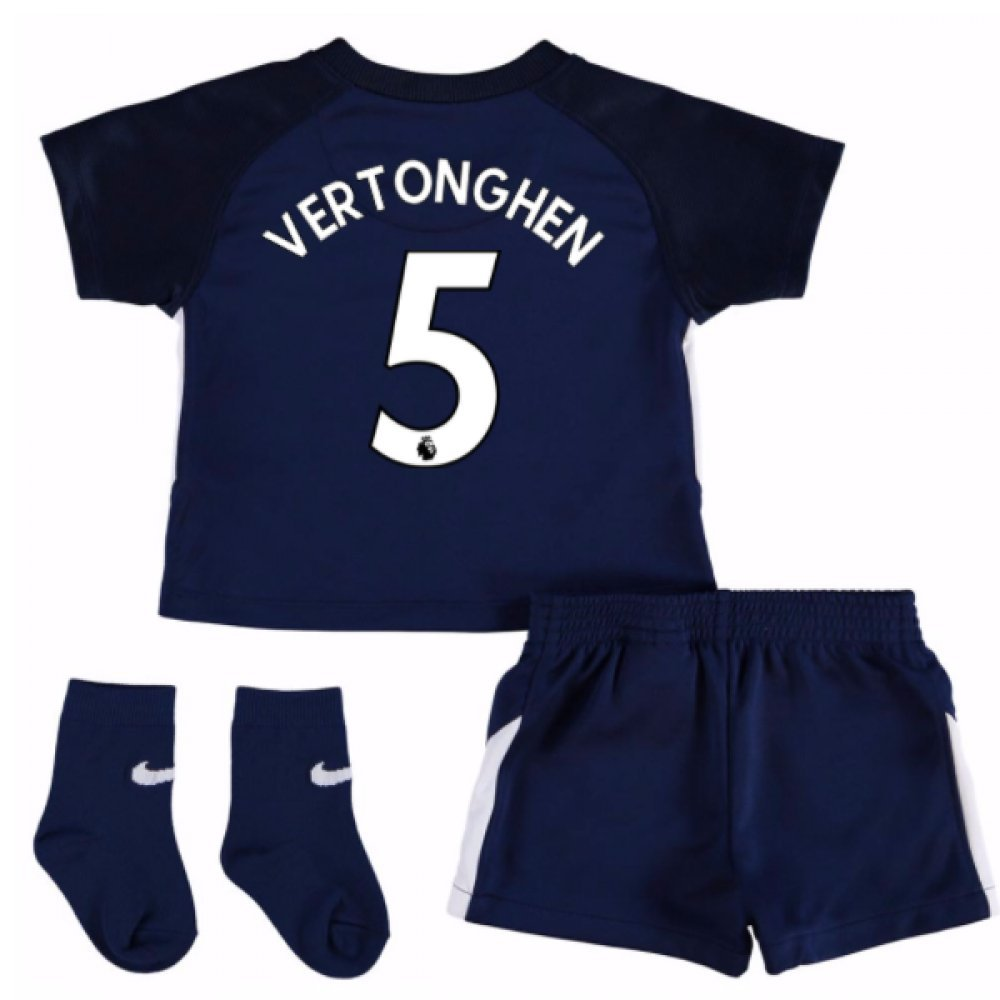 UKSoccershop 2017-18 Tottenham Away Baby Kit (Jan Vertonghen 5)