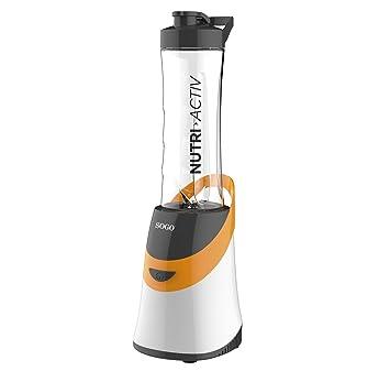 SOGO SS-5515-O Máquina de Hacer Batidos Nutri Activ 350W. Incluye Jarra portátil, Libre de BPA de 0.6L. Color: Naranja: Amazon.es