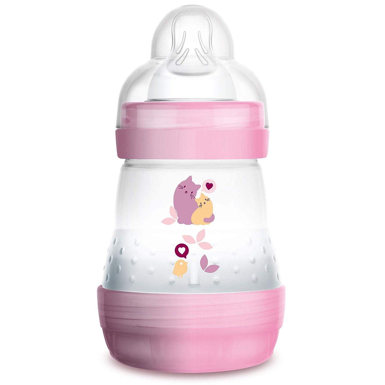 160 ml Baby Trinkflasche mit Sauger Gr/ö/ße 1 Hunde Babyflasche mit innovativem Bodenventil gegen Koliken blau ab der Geburt MAM Easy Start Anti-Colic Babyflasche