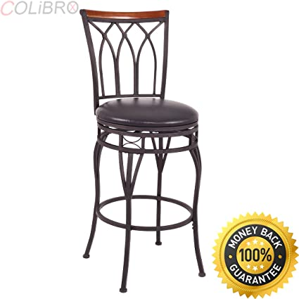 Amazoncom Colibrox Vintage Swivel Bar Stool 24 28 Height