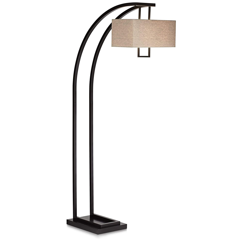 Aiden Place Oil-Rubbed Bronze Arc Floor Lamp