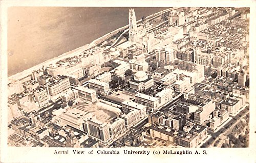 Aerial View of Columbia University New York City, New York postcard