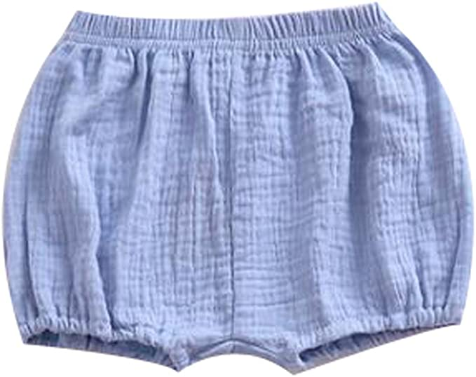 MIOIM Unisex Baby Girls Boys Soft Cotton Linen Blend Bloomer Shorts Pants for Infant Kid