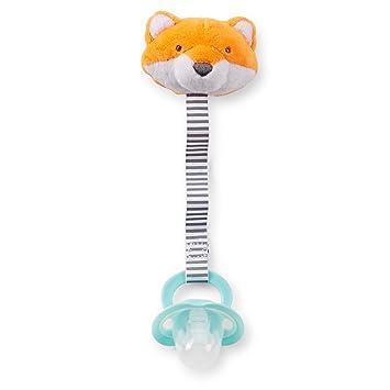 Amazon.com: De Carter bebé Niñas Fox Clip para chupete: Baby