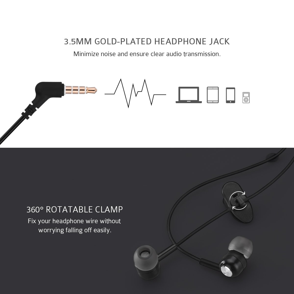 Mpow In Ear Headphones With Bass Electronics Wiring Diagram For 3 5mm Headphone Jack