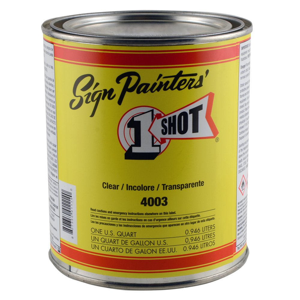 1 Shot 4003 Sign Restoring Clear Gloss Quart ONE SHOT 4336953234
