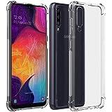 samsung A70 Case Cover, [Reinforced Corners] Ultra Slim Clear TPU Soft Silicone Bumper Anti-Scratch Thin Fit Case for Samsung Galaxy A70-Transparent