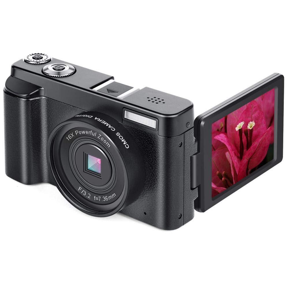 casualcatch デジタルカメラ P11 デジタル一眼カメラ 光学16倍ズーム 2400万画素CMOS wifi対応 3.0インチ液晶ディスプレイ ビデオカメラ 180度回転スクリーン ブラック   B07MT7Z8TS
