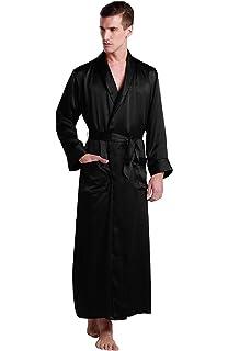 9da394ccf81ac LilySilk Mens Real Silk Robe 22 Momme Bath Robes Luxury Contrast Full  Length 100 Silk Male