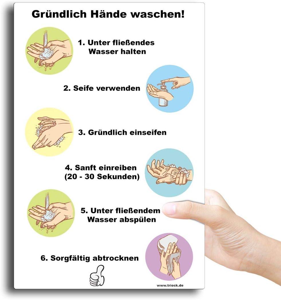 Schild Hände desinfizieren waschen Hygiene Sicherheit 3 mm Alu-Verbund