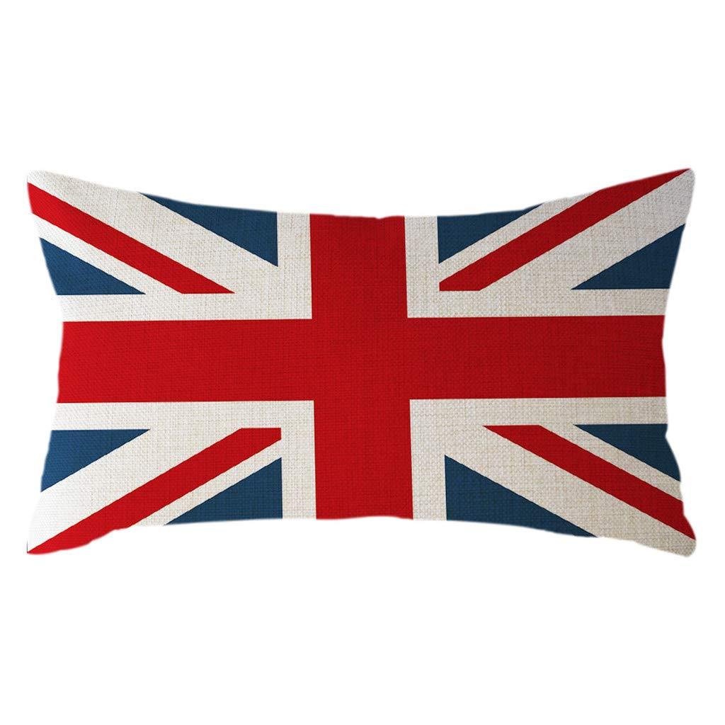 Minimalist National Flag Pillow Case Linen 30x50cm Cushion Cover Home Decor